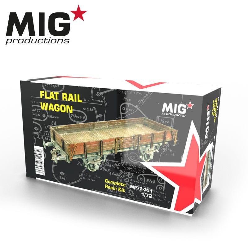 MIG 1/72 Flat Rail Wagon Resin Kit