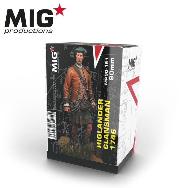 MIG 90mm Productions Highlander Clansman 1746 Resin Figure