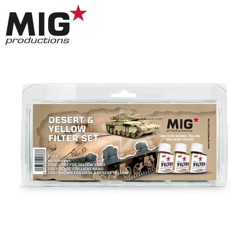 MIG Desert & Yellow Filter Set