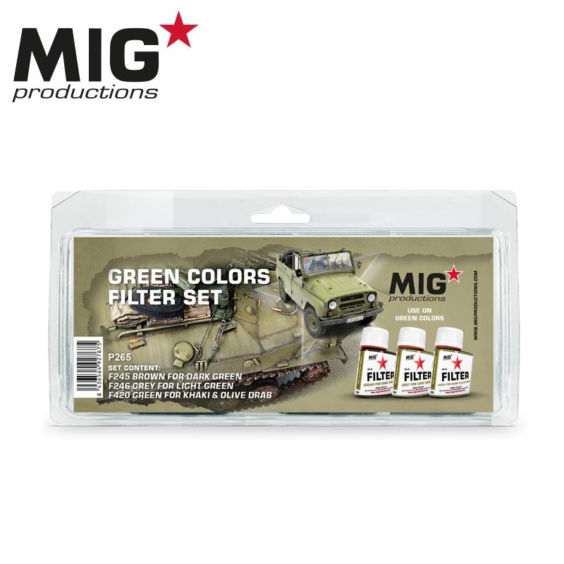 MIG Green Colors Filter Set