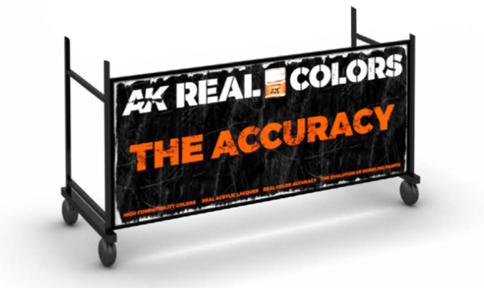 AK Interactive Real Colors Rack Base w Castors