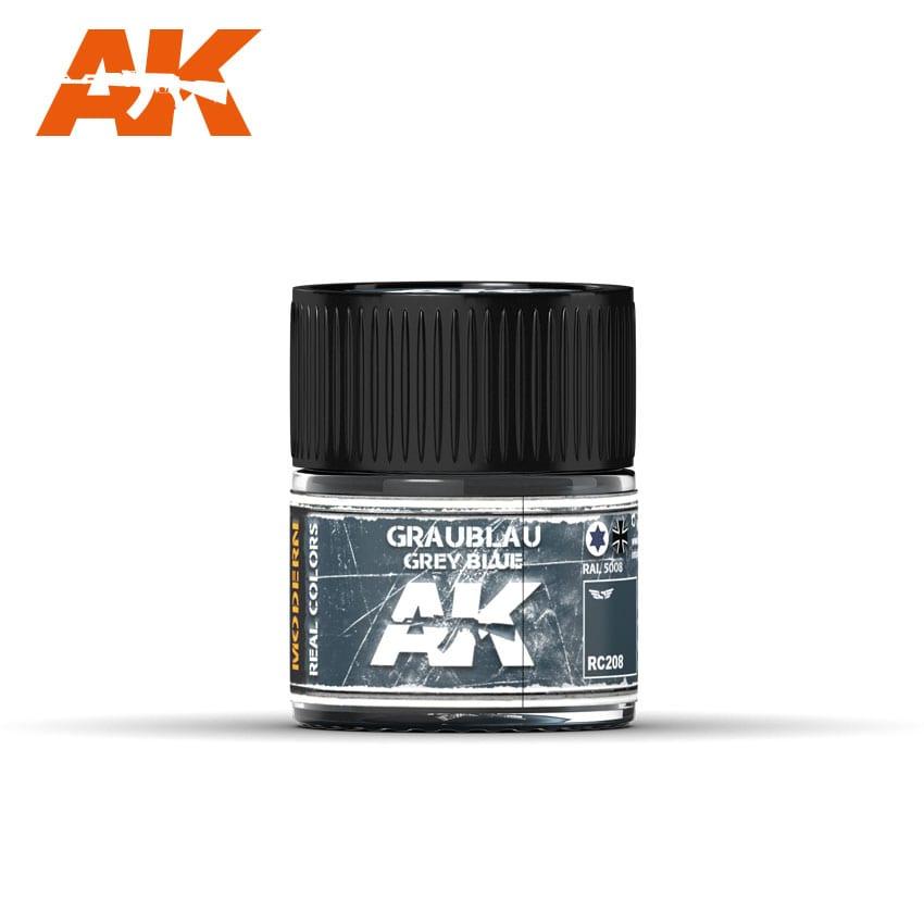 AK Interactive Graublau-Grey Blue RAL 5008, 10 ml