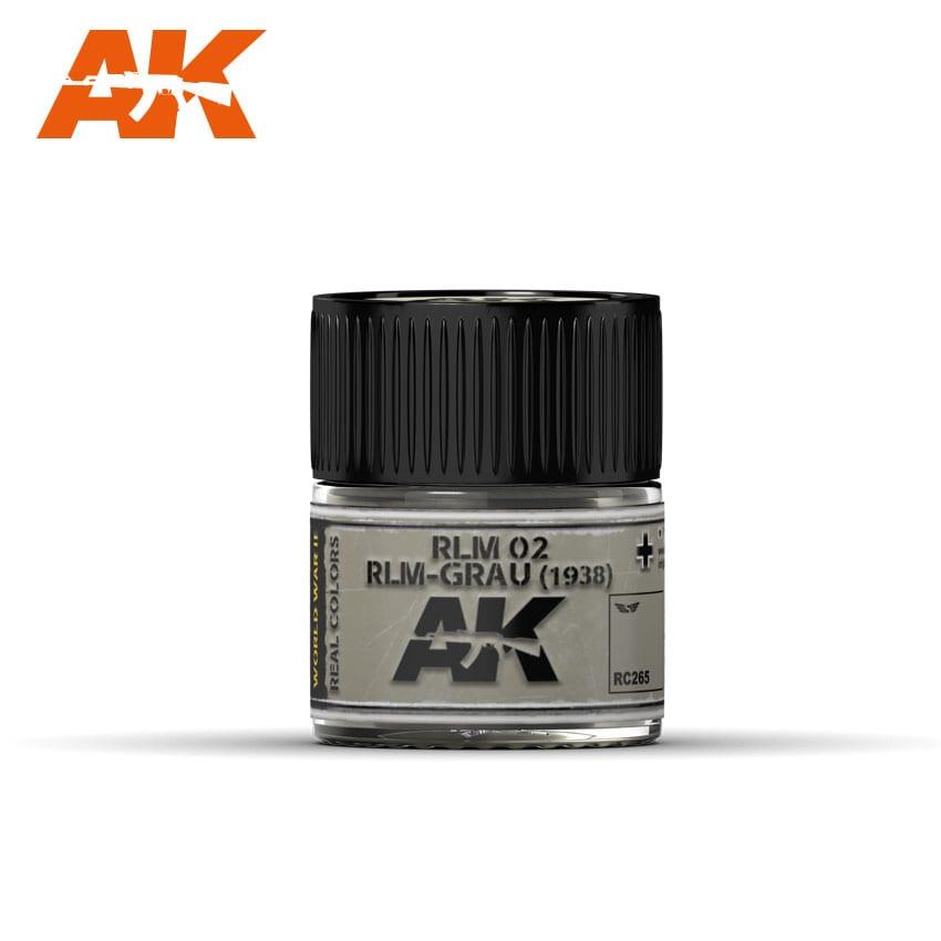 AK Interactive Real Colors RLM 02 RLM-GRAU (1938)