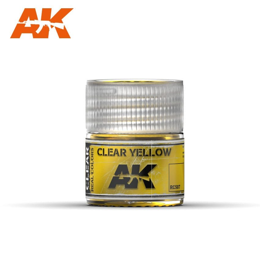 AK Interactive Real Colors Clear Yellow 10ml