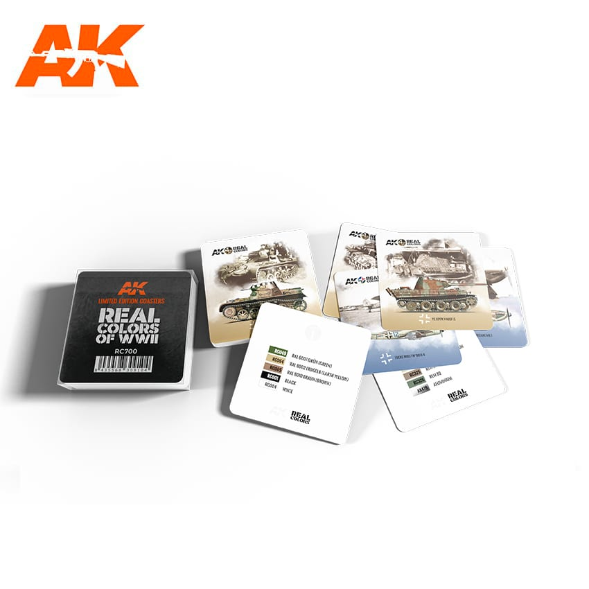 AK Interactive Real Colors Coasters - Limited Edition