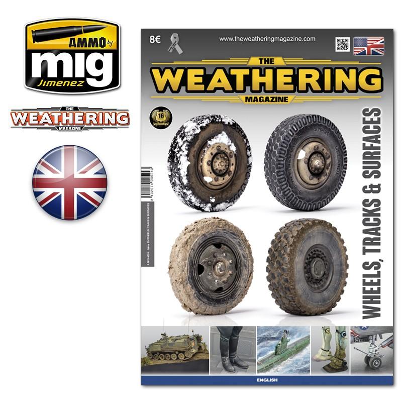 Ammo Mig The Weathering Magazine No 25: Wheels, Tracks & Surfaces (English)