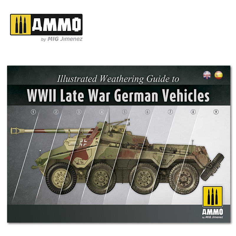 Ammo Mig Illustrated Weathering Guide to WWII Late German Vehicles (Spanish, English)