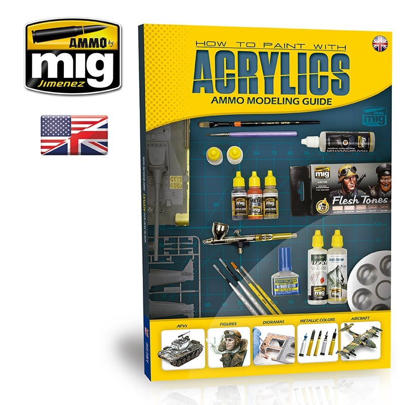 Ammo Mig How to Paint with Acrylics - Ammo Modelling Guide (English)