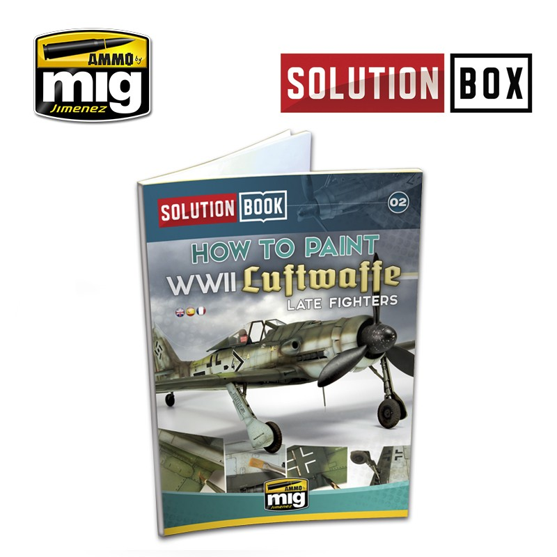 Ammo Mig How to Paint WWII Luftwaffe Late Fighters - Solution Book (Multilingual)