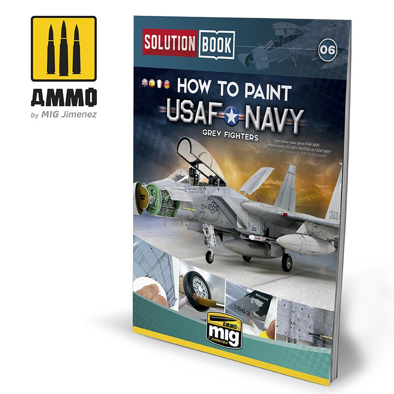 Ammo Mig How To Paint USAF Navy Grey Fighters - Solution Book (Multilingual)