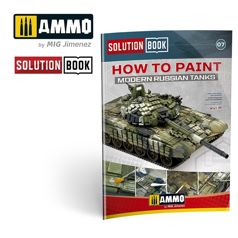 Ammo Mig How To Paint Modern Russian Tanks - Solution Book (Multilingual)