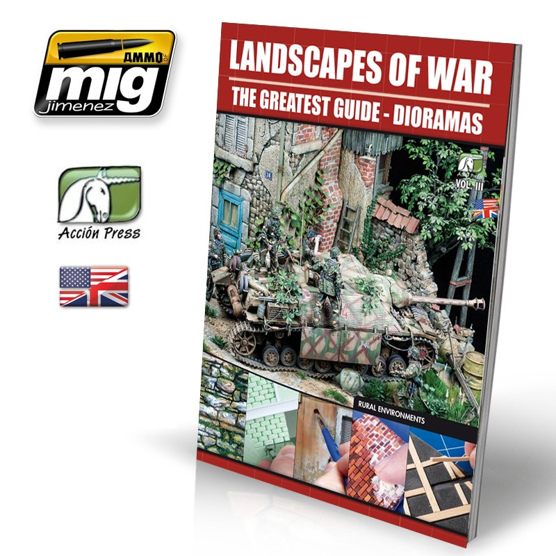 Ammo Mig Landscapes of War Dioramas Vol. 3 Rural Enviroments - The Greatest Guide (English)