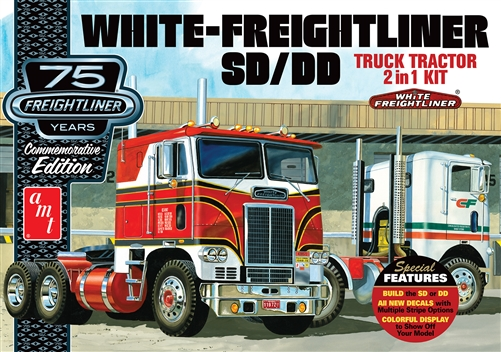 AMT 1/25 White Freightliner 2-in-1 SC/DD Cabover Tractor (75th Anniversary)