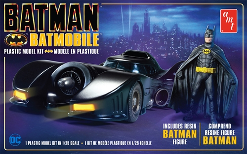 AMT 1/25 Batman 1989 Batmobile with Resin Batman Figure 2T