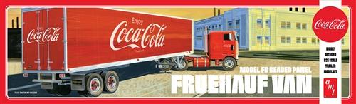 AMT 1/25 Fruehauf Beaded Van Semi Trailer (Coca-Cola)