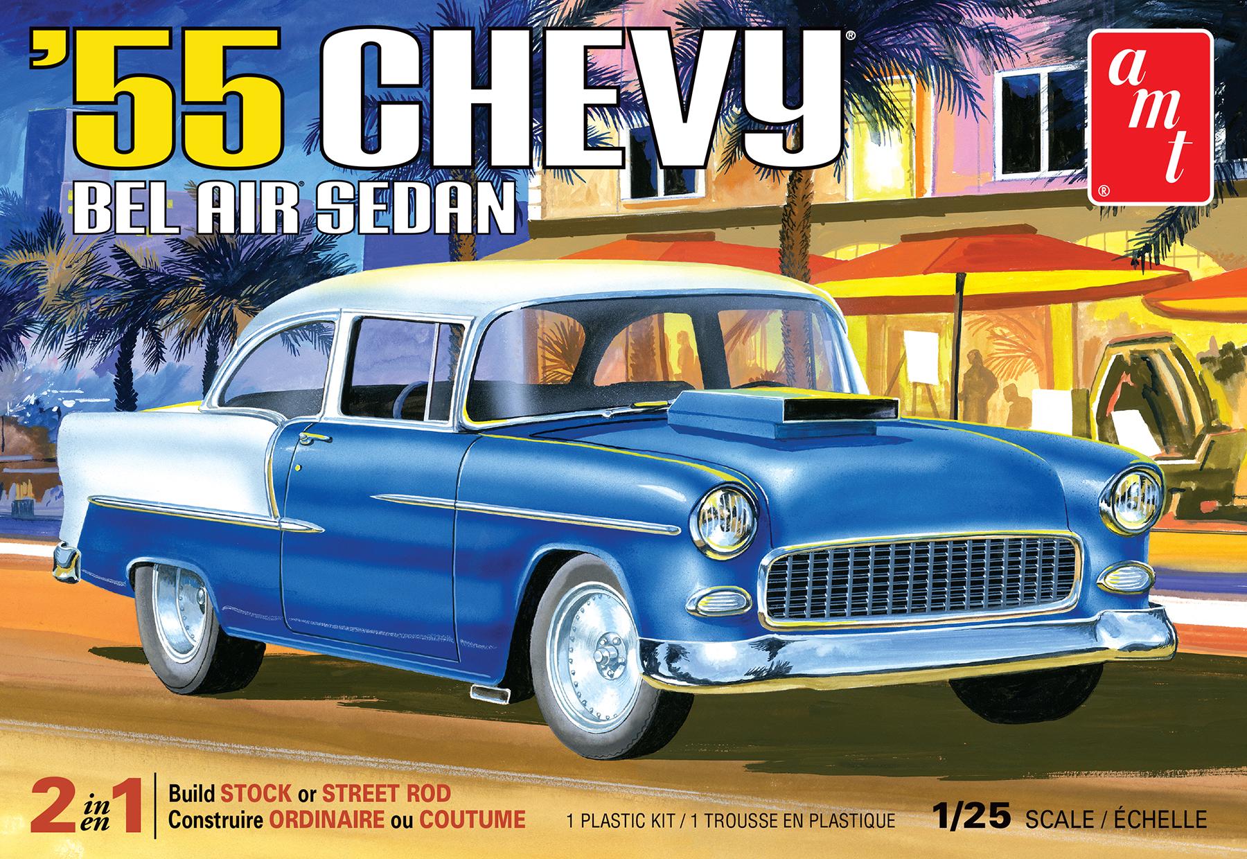 AMT 1/25 1955 Chevy Bel Air Sedan 2T