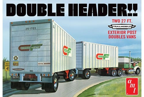 AMT Double Header Tandem Van Trailers