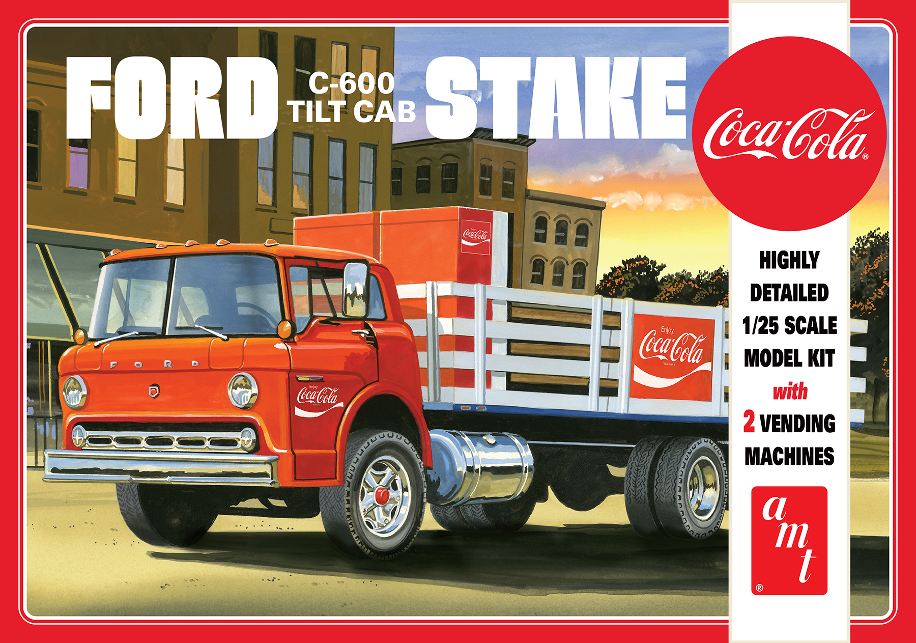 AMT 1/25 Ford C600 Stake Bed with Coca-Cola Machines