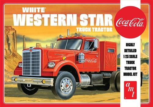 AMT 1/25 White Western Star Semi Tractor (Coca Cola)