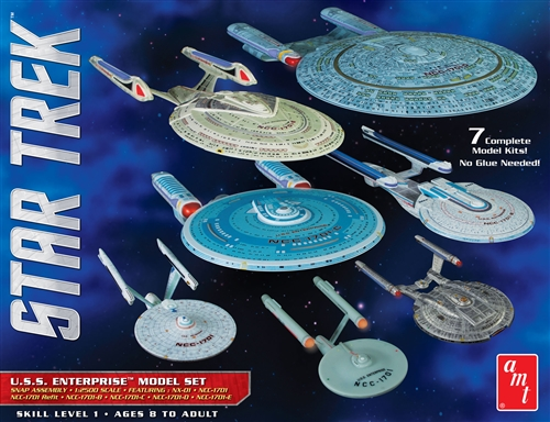 AMT Star Trek USS Enterprise Box Set Snap Kit
