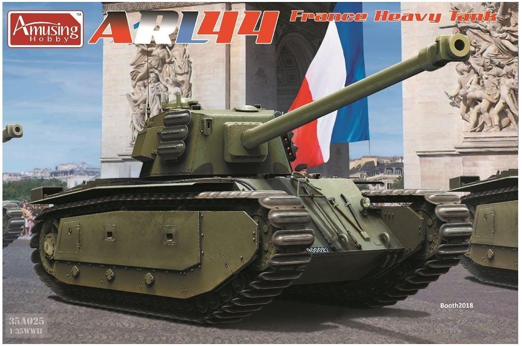 Amusing Hobby 1/35 ARL44 France Heavy Tank