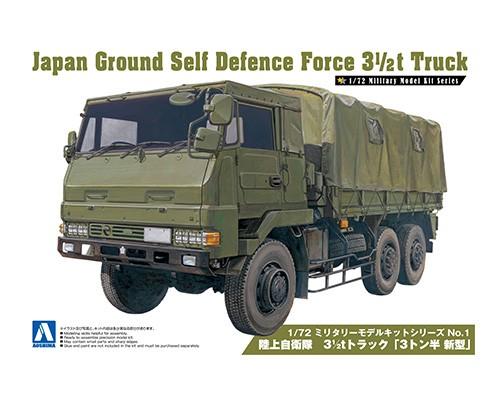 Aoshima 1/72 JAPAN GROUND SELF DEFENSE FORCE 3 1/2_ TRUCK