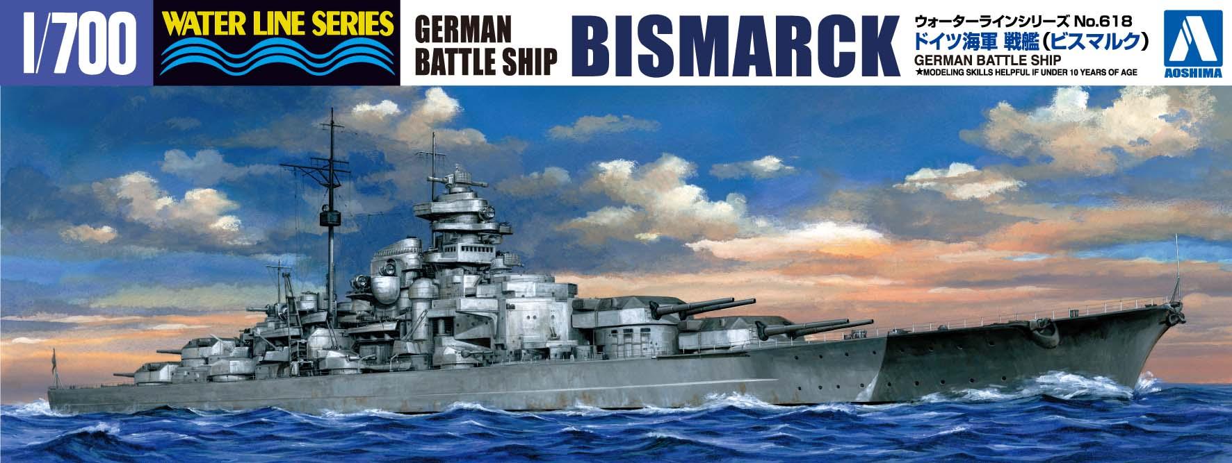 Aoshima 1/700 German Battleship BISMARCK