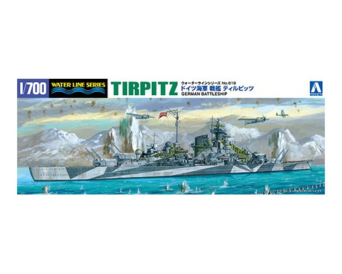 Aoshima 1/700 GERMAN BATTLESHIP TIRPITZ