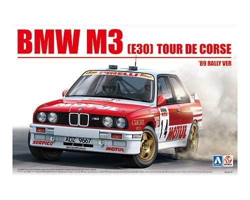 Aoshima Beemax 1/24 BMW M3 E30 '89 TOUR DE CORSE RALLY VER