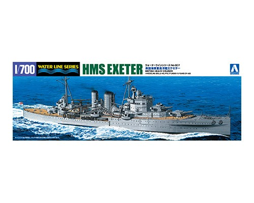 Aoshima 1/700 British Heavy Cruiser Exeter