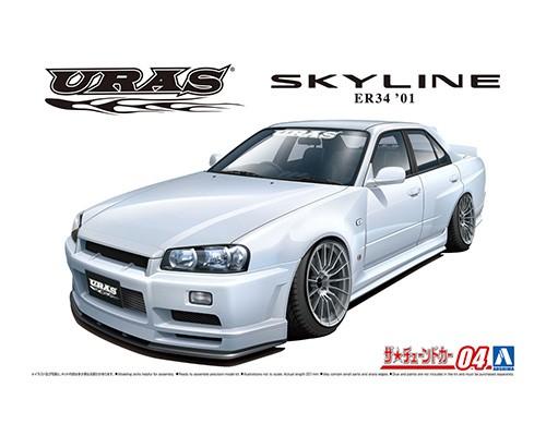 Aoshima 1/24 Nissan Uras ER34 Skyline Type-R '01