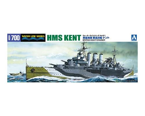 Aoshima 1/700 British Heavy Cruiser Kent