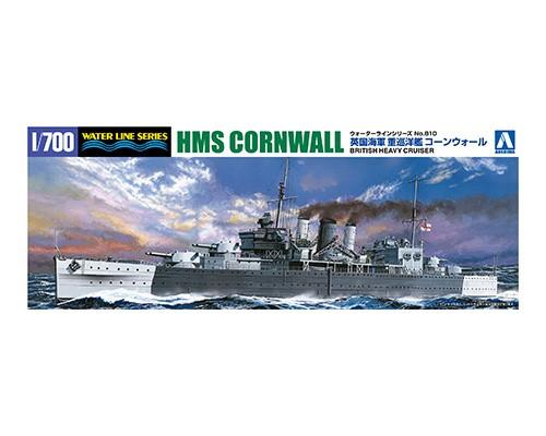 Aoshima 1/700 British Heavy Cruiser Cornwall STD