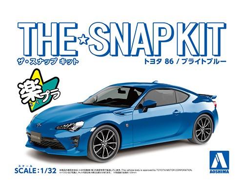 Aoshima 1/32 Toyota 86(BRIGHT Blue)