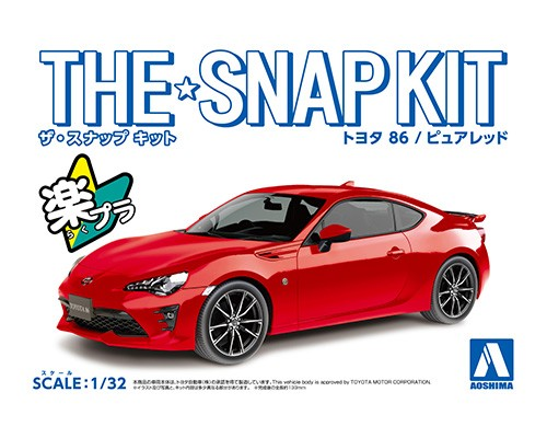Aoshima 1/32 TOYOTA 86(PURE RED)