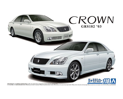 Aoshima 1/24 TOYOTA GRS182 CROWN RoyalSaloon G/ATHLETE G '03