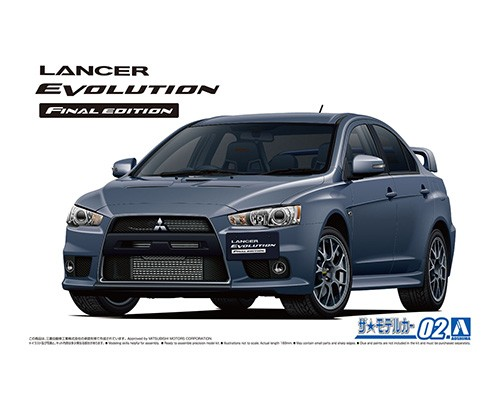 Aoshima 1/24 MITSUBISHI CZ4A LANCER EVOLUTION X FINAL EDITION '15