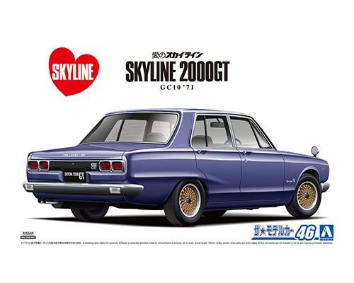 Aoshima 1/24 Nissan GC10 Skyline 2000GT '71