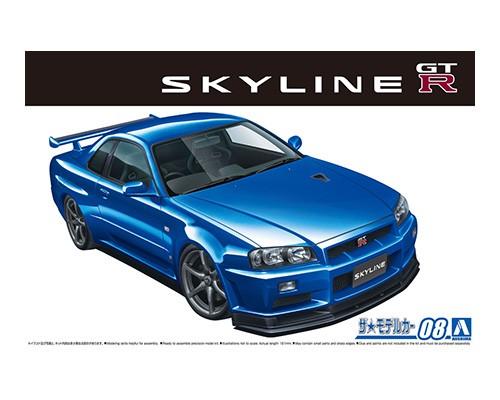 Aoshima 1/24 NISSAN BNR34 SKYLINE GT-R V-spec '02