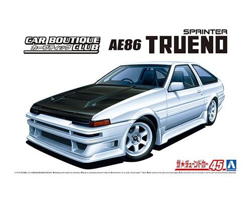 Aoshima 1/24 CAR BOUTIQUE CLUB AE86 TRUENO '85 Toyota