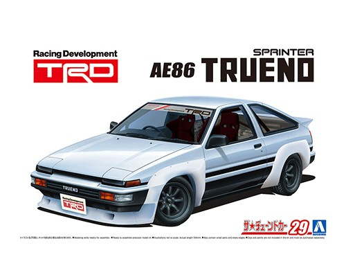 Aoshima 1/24 TRD AE86TRUENO N2 '85 (TOYOTA)