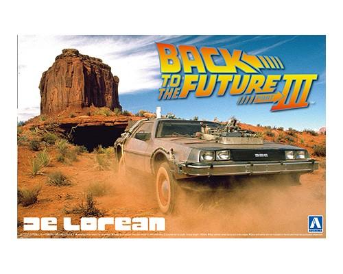 Aoshima 1/24 Back To The Future DELOREAN from PART III & RAILROAD Ver.