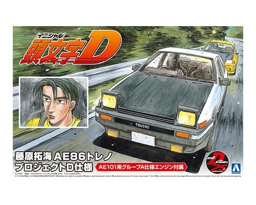 Aoshima 1/24 Initial D Toyota Fujiwara Takumi AE86 Trueno Project-D Ver.