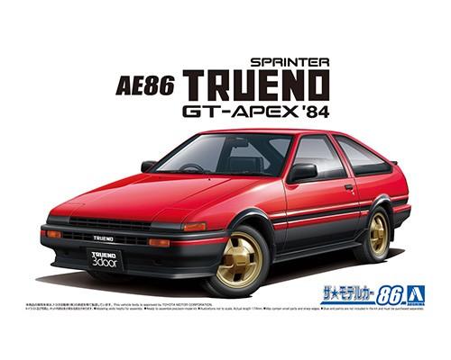 Aoshima 1/24 Toyota AE86 Sprinter Trueno GT-APEX 84