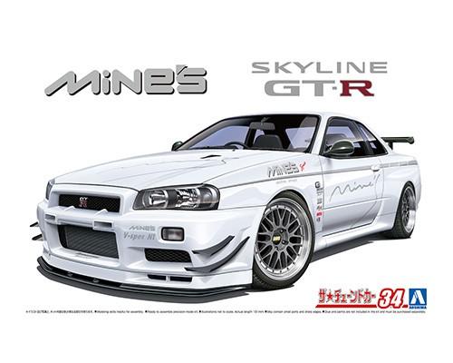 Aoshima 1/24 Nissan Mine's BNR34 Skyline GT-R '02