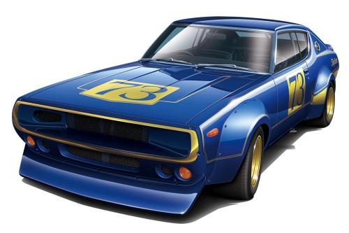 Aoshima 1/24 Nissan KPGC110 Skyline 2000GT-R RACING#73
