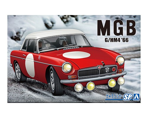 Aoshima 1/24 BLMC G/HM4 MG-B Club Rally Ver. '66