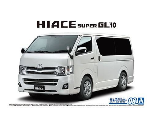 Aoshima 1/24 Toyota TRH200V Hiace Super Gl'10