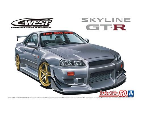Aoshima 1/24 Nissan C-West BNR34 Skyline GT-R '02
