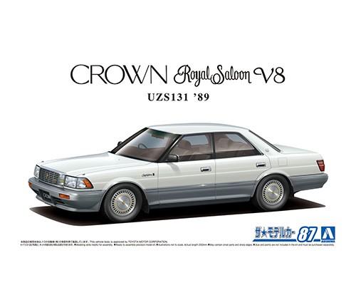 Aoshima 1/24 Toyota UZS131 Crown Royalsaloon G '89